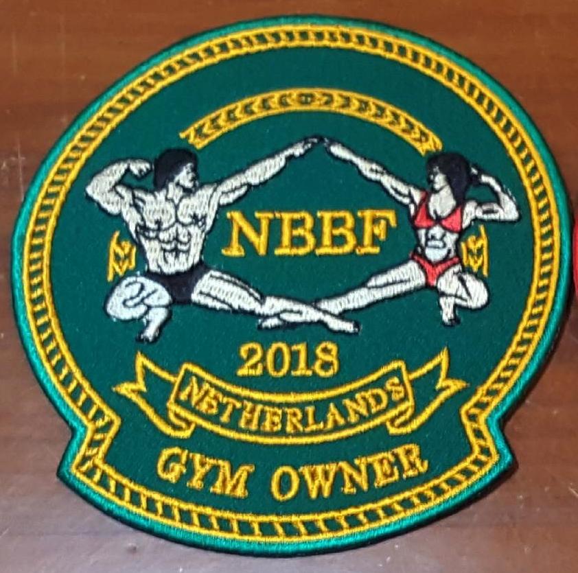 NBBF 2018 Certified Gym Owner geborduurde badge